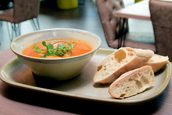 Chef's homemade soup of the week - currently available on our evening and Sunday Lunch menu (September 2021 - menus are subject to change).