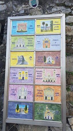 Santa Margherita Ligure, Italia: Cartello in ceramica