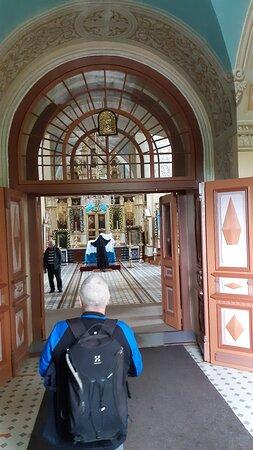Ingången till Klosterkyrkan.