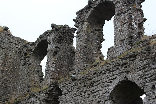 Windows in the high walls