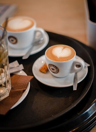 Start your day with a cup o' love  Because what more do you need in life besides coffee, right?