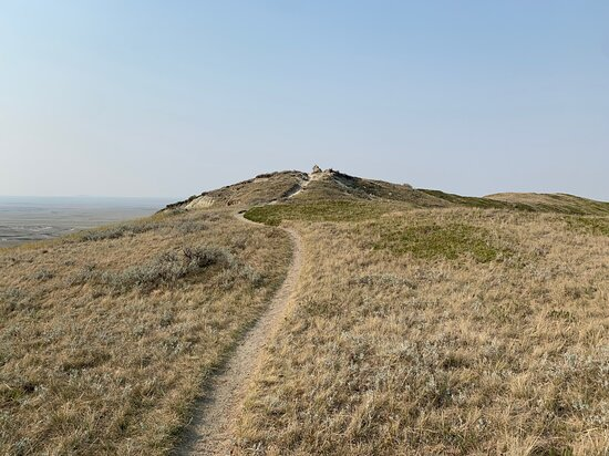 The trail to the top