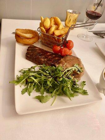 Superb steak and chips