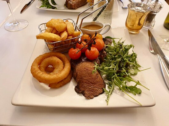 Excellent steak and chips