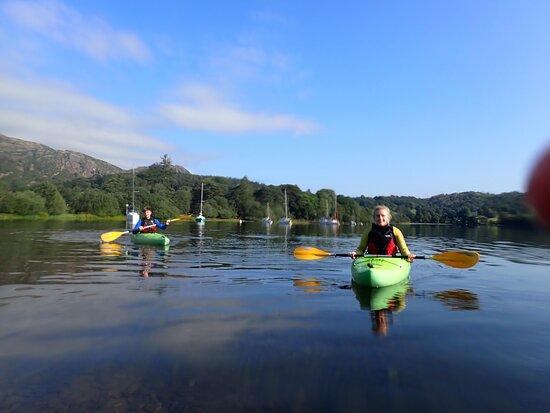 Kayaking on Coniston water