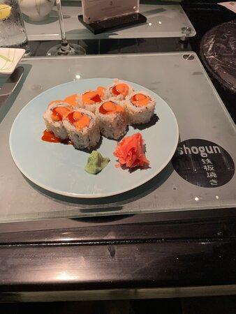 Nice sushi and wine