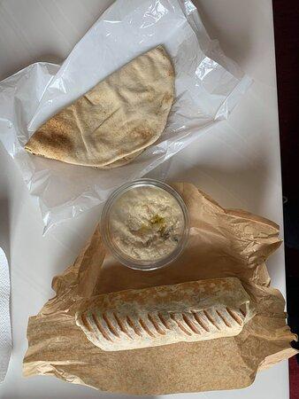 Sandwich + caviar d'aubergine