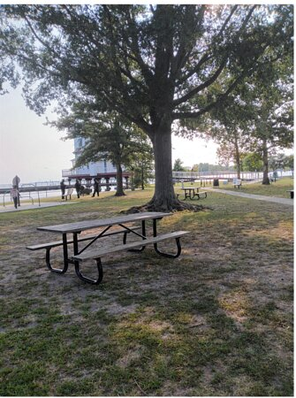 The public park at the Light House, they have picnic tables and Grills, and you can walk on the Pier or sit on the bench on the Pier.