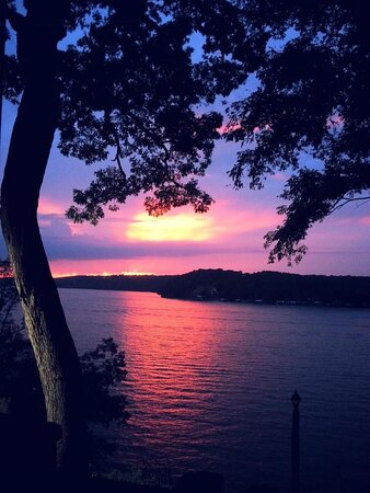Colorful sunset from Countryman Business Consultants (CBC) balcony in Linn Creek Cove, 31 MM.