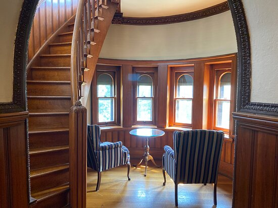 Spiral staircase tower suite - gorgeous!