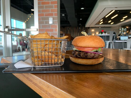 THE ELEVATED BURGER: 6 OZ. PATTY, BIBB, TOMATO, RED ONION, WICKLE'S PICKLES