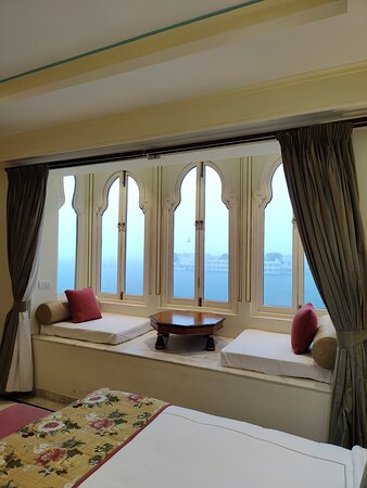 Suite 617 has larger windows and a traditional gaadi-moda seating.