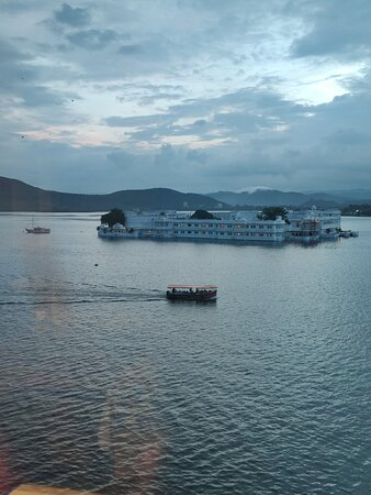 View of the Taj Lake Palace from Suite 617