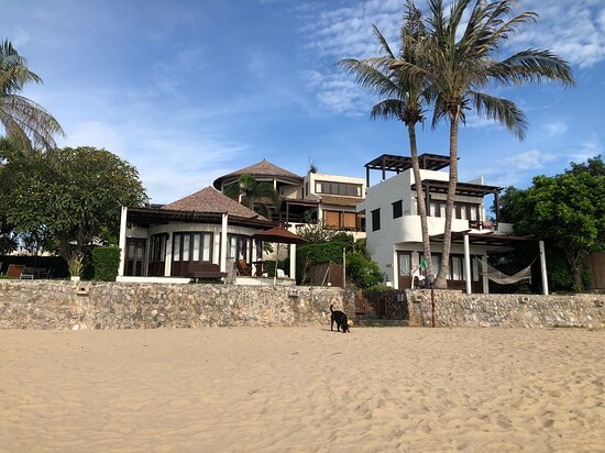 From the Beach a photo of the resort