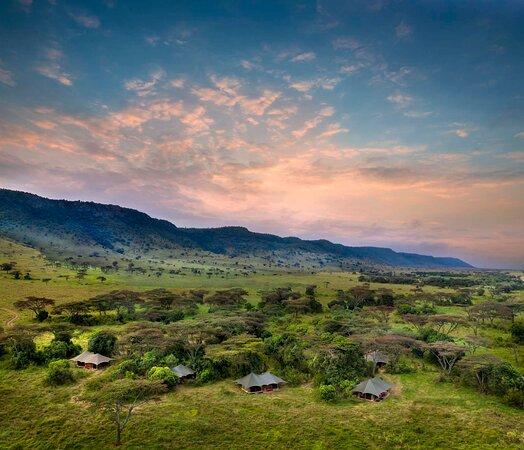Angama Safari Camp set in the heart of the Mara Triangle