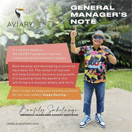 General Manager's Note for September
