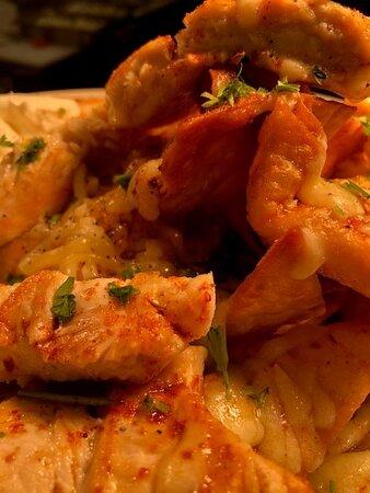 Nacho sharer with added chicken