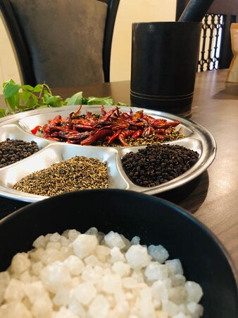 Fresh Spices and our Himalayan Salt ... All used here.