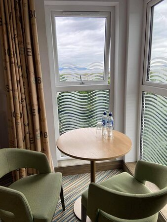 View from window over to Arran and seating area