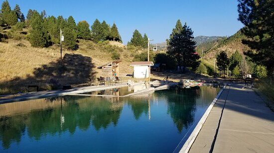 Lowman, ID: Large hot spring