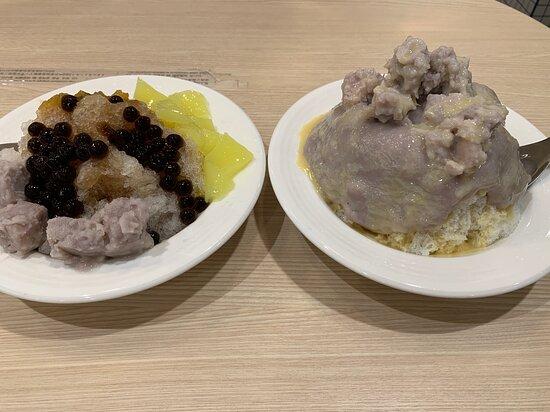 乳香雙芋冰、黑糖刨冰