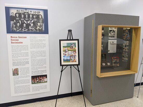Mexican American Fast Pitch Softball exhibit on display from Sept 15-Nov 15, 2021.