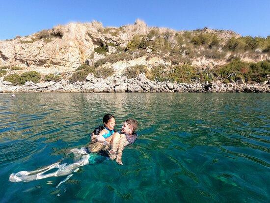 Rhodes Sea Kayaking Tour: Swimming