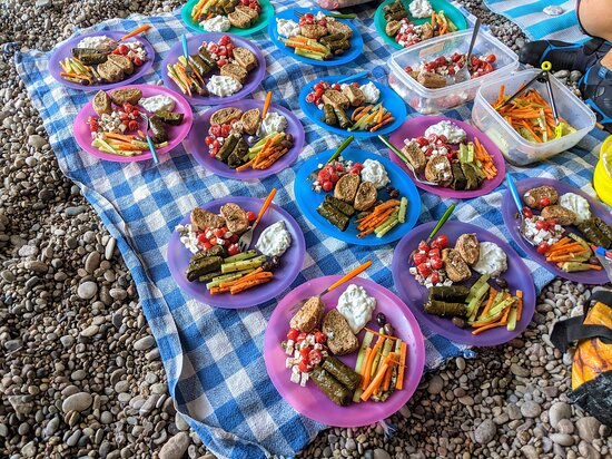 Rhodes Sea Kayaking Tour: authentic picnic lunch