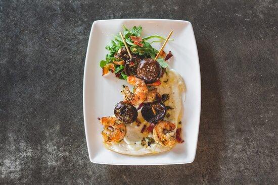 Shrimp and Mushroom Skewers with Smoked Bacon Aioli