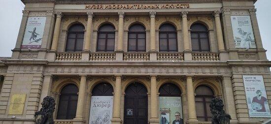 """Вход в музей - через главный вход музея изобразительных искусств. """"Вход со львами"""" называют его в народе. Расположен со стороны Эстакадного моста."""