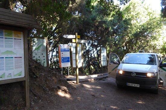 Lugar de inicio de la ruta de Marcos y Cordero