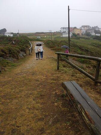 bajo la lluvia en Viavelez