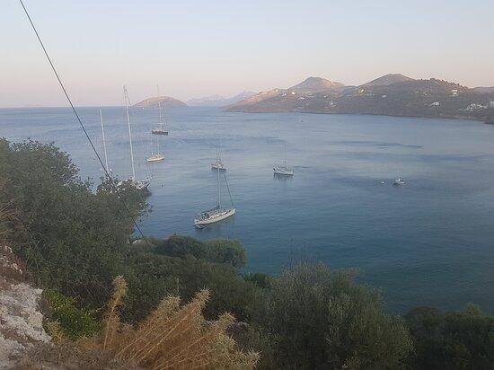 Léros, اليونان: Vromolithos Bay from Skilia 