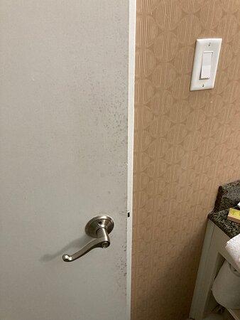 Bathroom has mold.