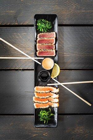 Tataki van zalm & tonijn