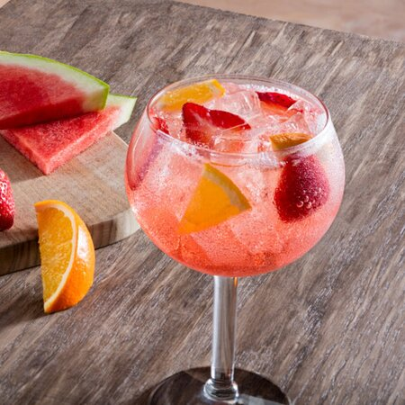 Sangrias made with a blend of chilled wine, fresh fruit and a splash of fruit juices.