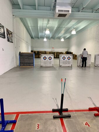 Great time at archery range
