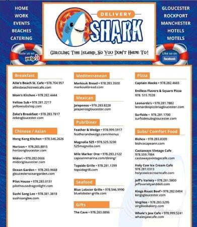We deliver via Delivery Shark