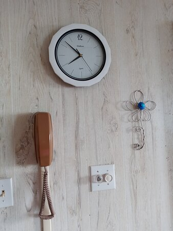 The phone on the wall is a tale tale sign of how long its been since an update