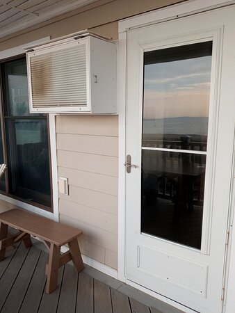 This is the Oceanfront balcony, the AC unit is loud and so dirty not only outside but inside as well