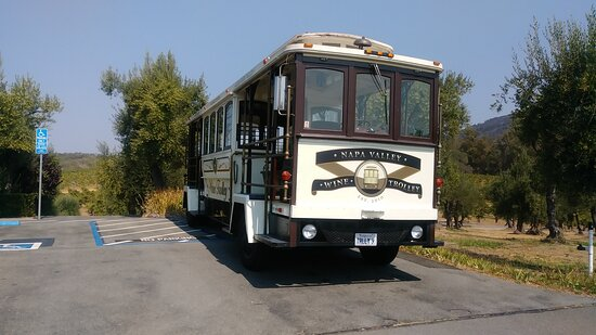 Sonoma Valley Wine Trolley Including Lunch: Our trolley parked at BR Cohn winery