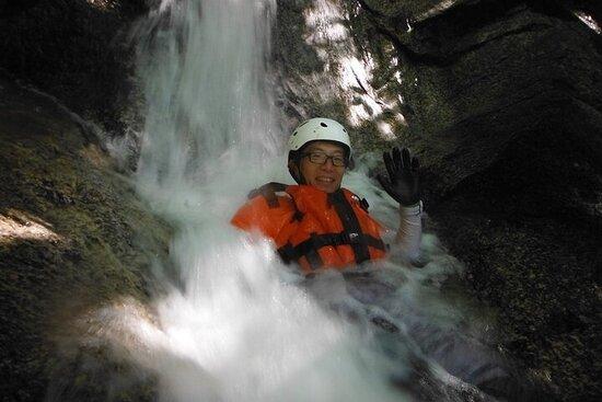 Private Shower Climbing Adventure at Waraku No Sato