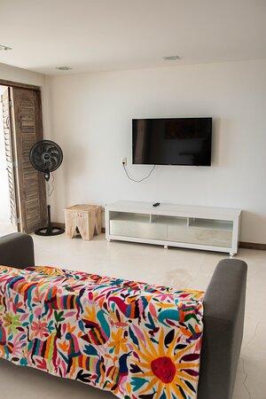 Baia Formosa, RN: Apartamento Garoupa - Possui 4 dormitórios + sala com TV + cozinha completa + vista mar.