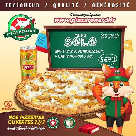 Bonne rentrée à tous et à toutes ! Profitez de notre menu Solo une pizza junior + une boisson 33 cl pour seulement 5.99€ !!