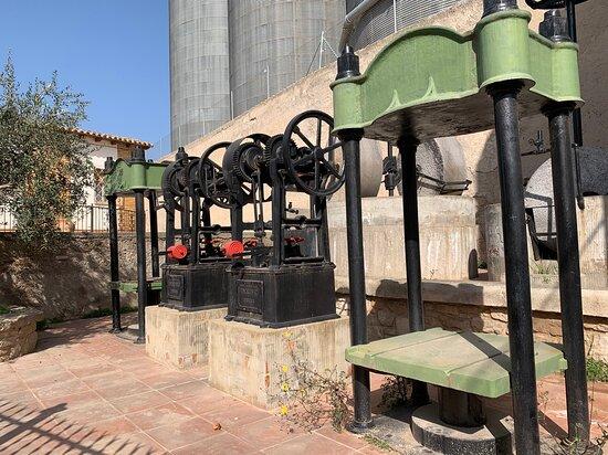 Arbeca, España: Prensas antiguas del molino de aceite.