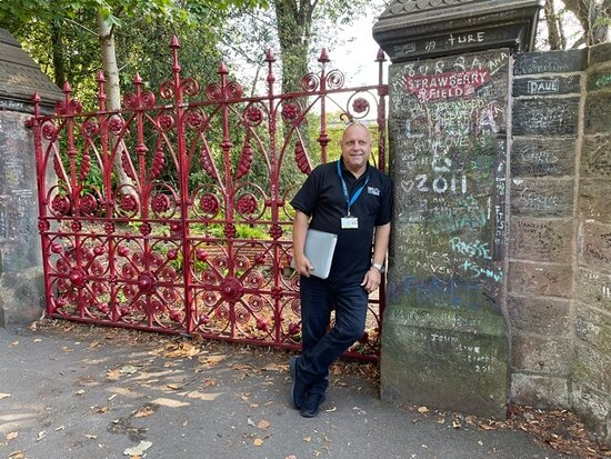 Private 3-Hour Guided Beatles Classic Tour of Liverpool: Jimmy our amazing driver - at Strawberry Fields