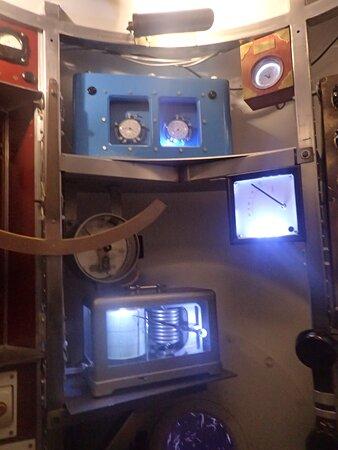 Inside the submarine office.