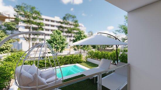 2022 NEW Swim up apartment