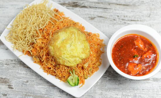 Indian Chinese Fusion  Triple Schezwan  Fried Rice