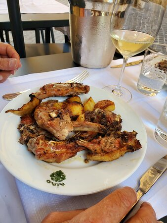 Grilled lamb and potatoes